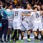 Nicola Portner jubelt mit seinen Kollegen von Montpellier über den Gewinn der Champions League