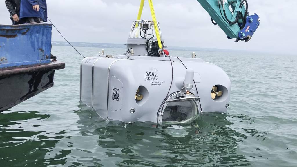 Subspirit P-63 Testfahrt U-Boot Vierwaldstättersee