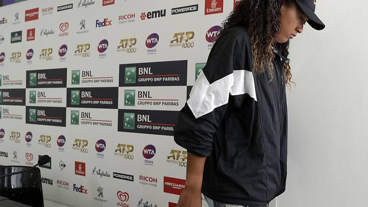 Naomi Osaka erklärte für ihren Viertelfinal in Rom forfait