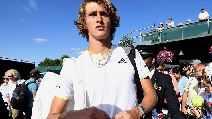 Der Deutsche Alexander Zverev enttäuschte zuletzt am French Open und in Wimbledon