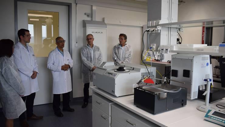 Bei der Einweihung der Lonza-Forschungs-Labors auf dem Stücki-Areal