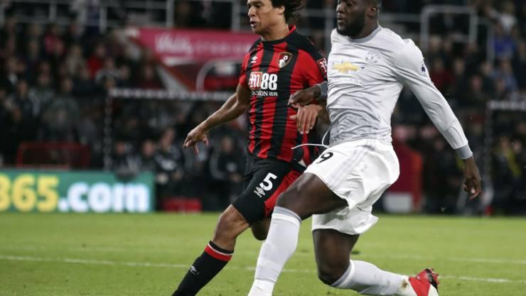 Romelu Lukaku auf seinem Weg zum 1:0 für Manchester United