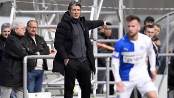 Trainer Murat Yakin führte Schaffhausen bislang vom Tabellen-Ende der Challenge League auf Rang 7