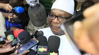 Der wiedergewählte malische Präsident Ibrahim Boubacar Keita tritt am 4. September seine neue Amtszeit an. (Archivbild)