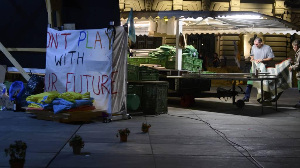 Klima-Aktivisten unbeeindruckt vom Ultimatum der Stadt Bern
