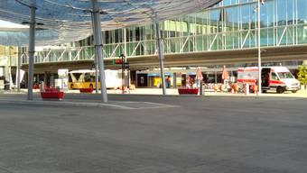 Polizeieinsatz am Bahnhof Aarau (15.09.2017)