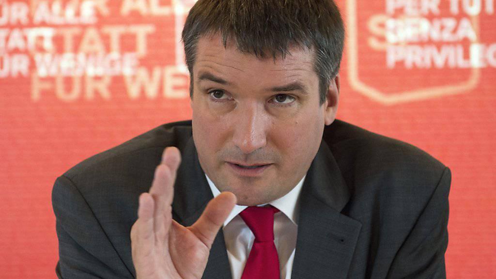 SP-Präsident Christian Levrat kämpft für seine Vision der Schweiz - und um die entscheidenden sieben Sitze.