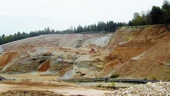Buchrain: Die Kieswerk Arch AG hofft, dass sie die dritte und letzte Abbauetappe schon bald in Angriff nehmen kann. (Bild: sl)