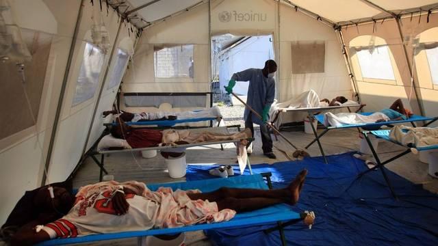 Krankenzelt für Cholera-Patienten in Haiti