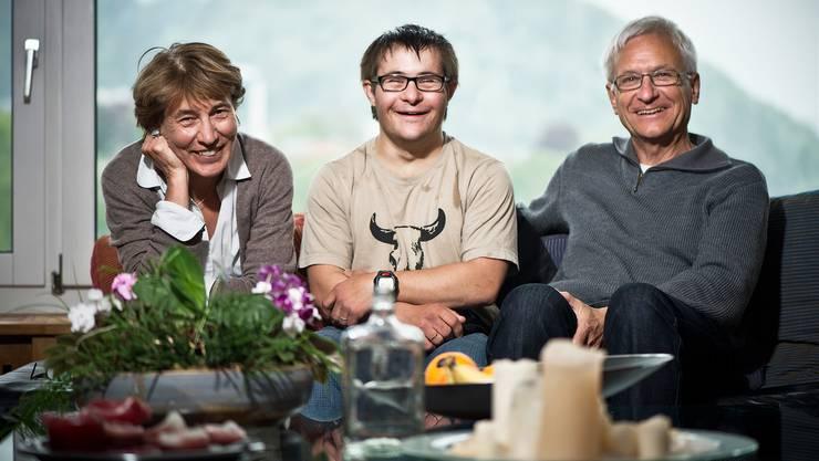 Irmgard und Peter Federer sind heute mit ihrem Sohn Simon beim Schweizer Fernsehen zu Gast.Annika Bütschi