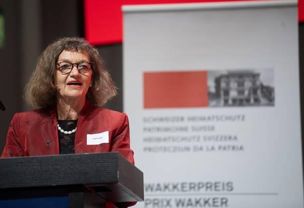 Grossratspräsidentin Edith Saner: «Dass der Wakkerpreis die Freiräume in den Vordergrund stellt, verpflichtet.»