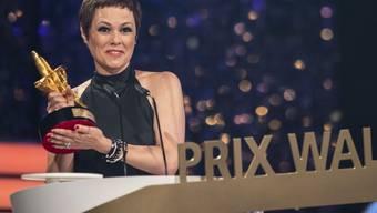 """Francine Jordi - hier vor einem Monat bei der Entgegennahme des Prix Walo - widmet ihren Song """"Da geht noch mehr"""" neuerdings der Schweizer Fussball-Nati."""