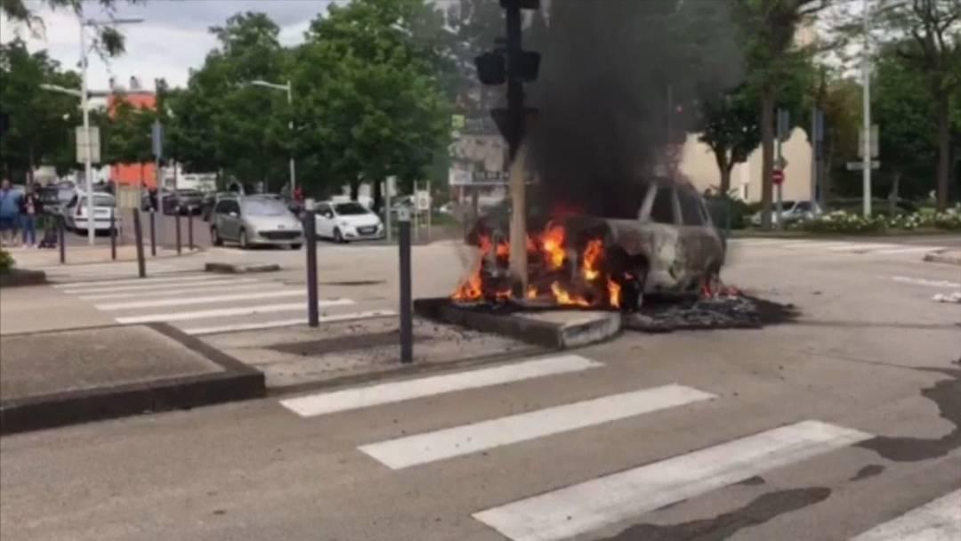 Heftige Ausschreitungen in Vorstadt von Dijon