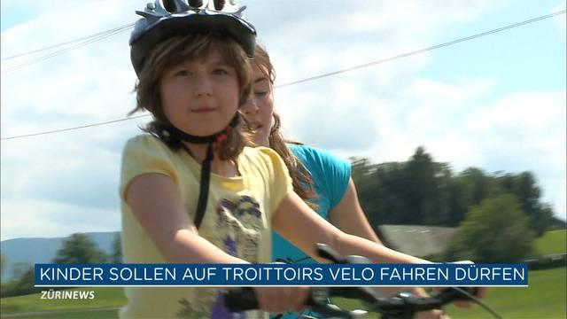 Kinder sollen Velo auf dem Trottoir fahren dürfen