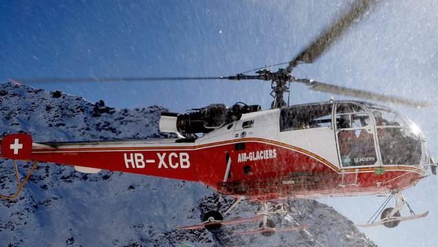 Ein Air-Glaciers-Heli brachte den Mann ins Spital (Symbolbild)