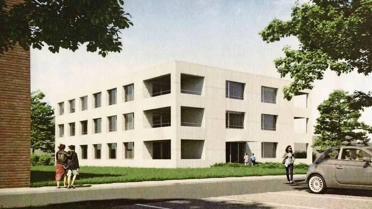 So soll der Erweiterungsbau der Stiftung in Oberentfelden aussehen.