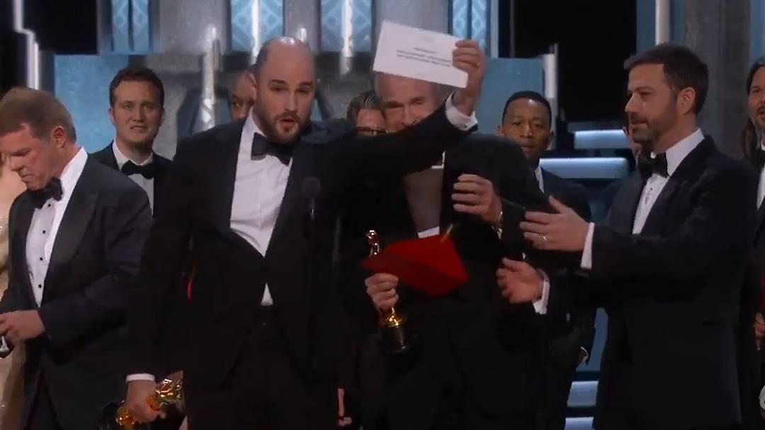 «Nein, das ist ein Fehler!»: Das Missgeschick bei den Oscar-Verleihungen