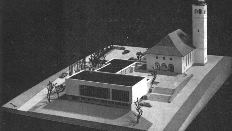 Architekturmodell des Entwurfs von Hans-Peter Bäschlin