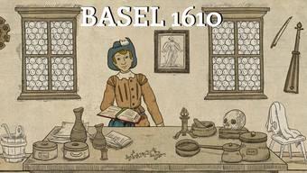 Die Hauptfigur des Computerspiels «Basel 1610» ist der junge Arzt Konrad. Er studiert beim berühmten Stadtarzt Felix Platter und erlebt eine Pestepidemie.