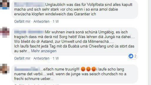 Die Kommentare auf Facebook sind eindeutig. (Screenshot: Facebook)