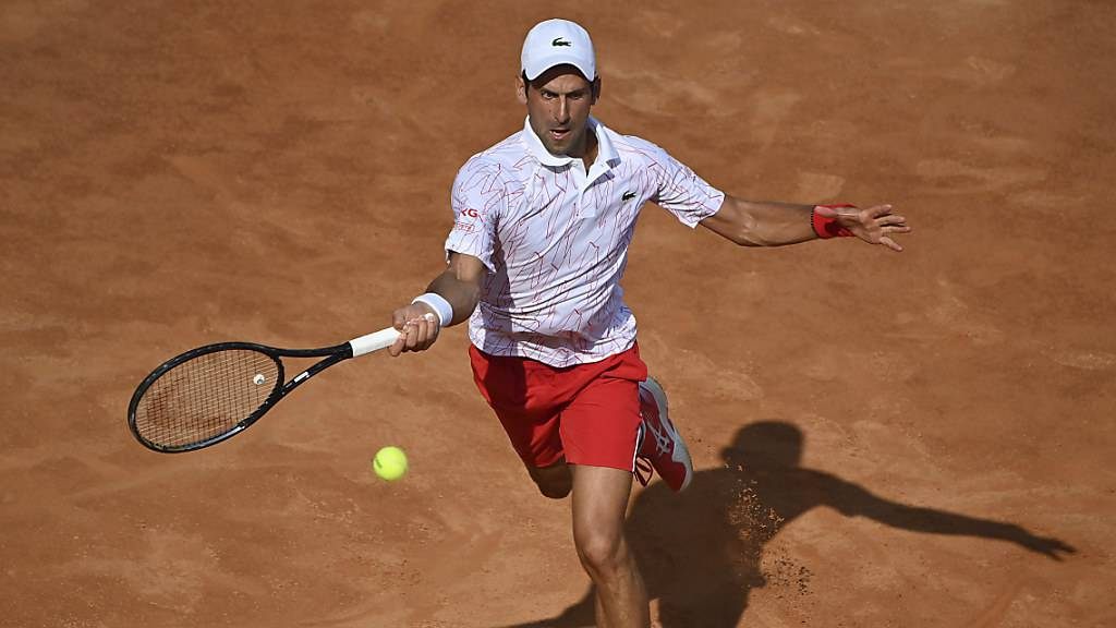 Novak Djokovic in Rom im Final