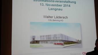 So könnte der Neubau der Pharmafirma CSL Behring in Lengnau aussehen