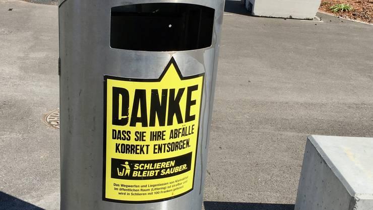 «Schlieren bleibt sauber»: Die Kampagne soll die Bevölkerung sensibilisieren.