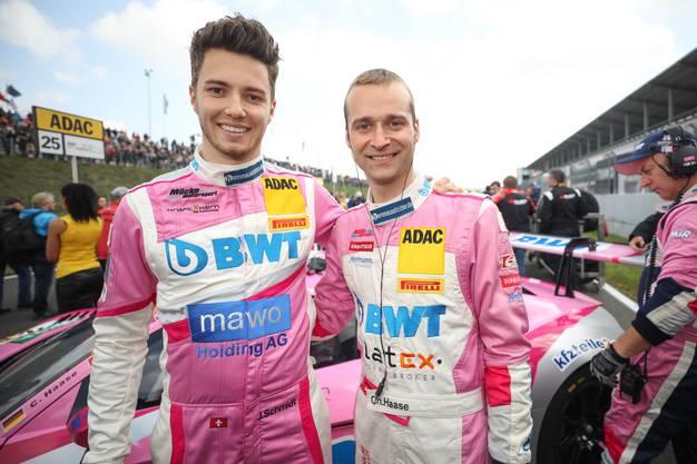 Mit Haase (r.) hat er sich schon 2017 ein Auto geteilt, die zwei sind ein eingespieltes Team.
