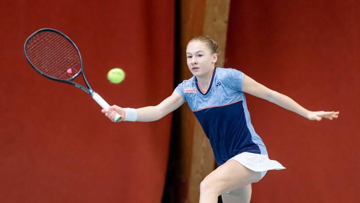 Celine Naef, die erst 14-jährige Siegerin aus Freienbach bei den Girls U18 an der AKB Swiss Junior Trophy.