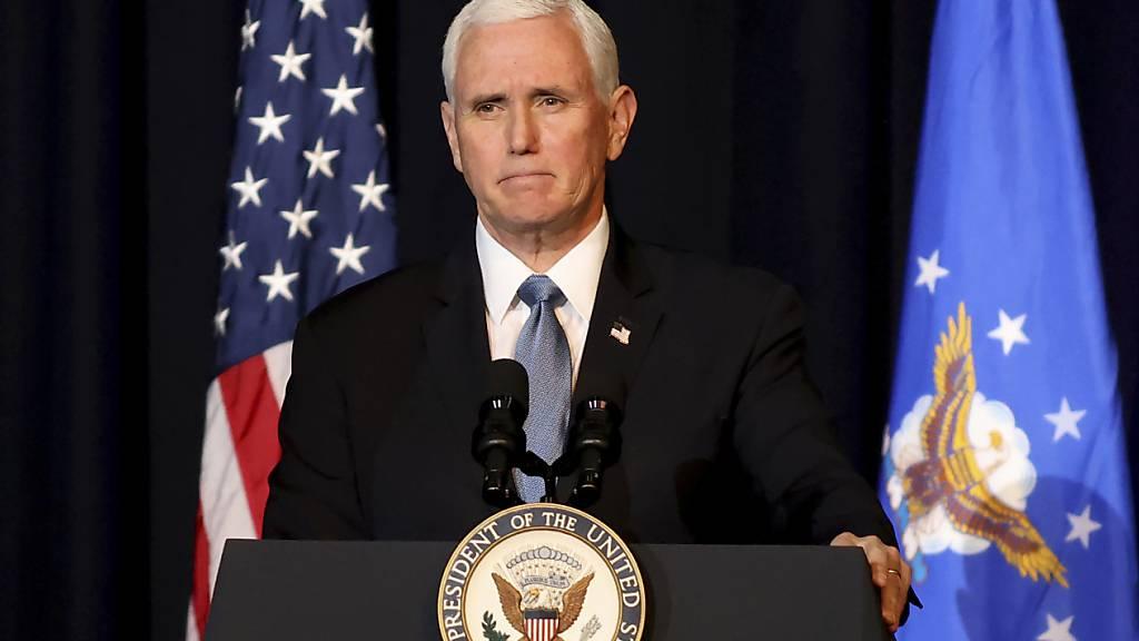 Ex-US-Vizepräsident Mike Pence kündigt Memoiren an
