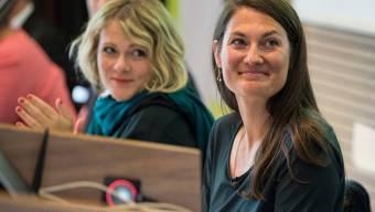 Die zwei weiblichen Aushängeschilder der Grünliberalen: Fraktionschefin Tiana Moser (rechts) und die Berner Nationalrätin Kathrin Bertschy (links).