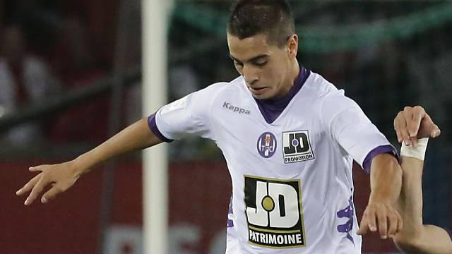 Toulouses Wissam Ben Yedder Doppeltorschütze gegen Lyon.