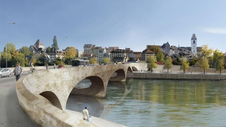 Der Pont Neuf soll 33 Millionen Franken kosten. Die Aarauer Stimmbürger haben 2014 relativ knapp (Ja-Anteil von 54 %) 10 Millionen Franken bewilligt.