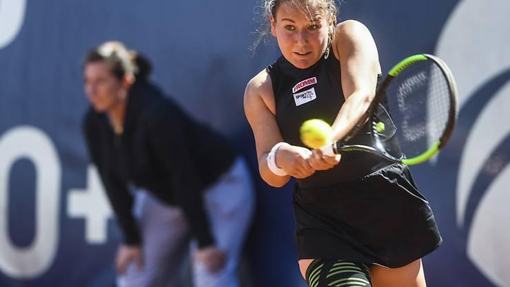 Aller Einsatz nützte nichts: Ylenia In-Albon verlor ihre erste Partie im Hauptfeld eines WTA-Turniers in Lugano