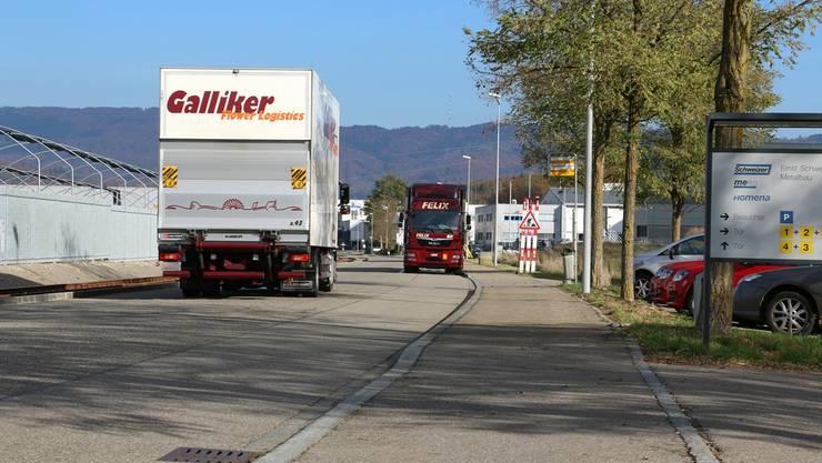 Der Industriezubringer Bäumlimattstrasse wird voraussichtlich ab dem Frühjahr 2019 saniert. (Archiv)