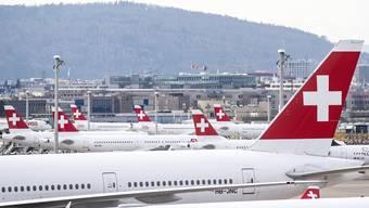 Die Swiss hat inzwischen ihre Flugkapazitäten um rund 80 Prozent gesenkt. Folgt bald das temporäre Grounding der gesamten Flotte?