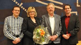 (V.l.) Manfred Rüefli und Evelyne Pfister haben demissioniert. Claude Barbey übernimmt ad interim das Präsidium. Reto Gasser wurde als Jurist neu in den Verwaltungsrat gewählt. Es fehlt Corinne Maier.