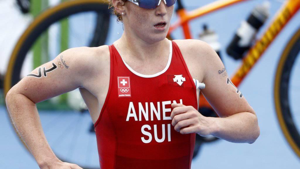Zeigte in Abu Dhabi trotz Sturz ein gutes Rennen: Triathletin Jolanda Annen. (Archivbild)