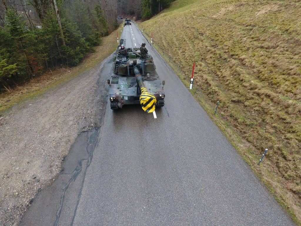 Panzerverschiebung im Toggenburg (© PIO Lukas Graf / Artillerie Abteilung 10)