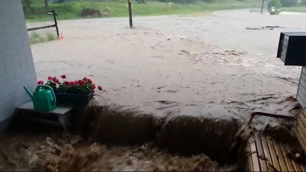 Überflutungen im Mittelland: Besonders Region Zofingen betroffen