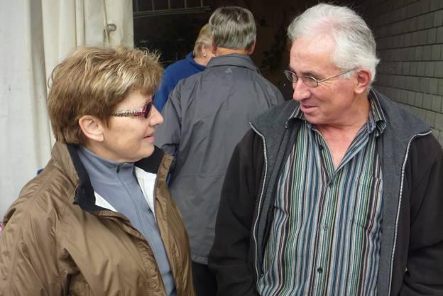 Gastgeber Franz Bättig im Gespräch mit Margrith Villiger