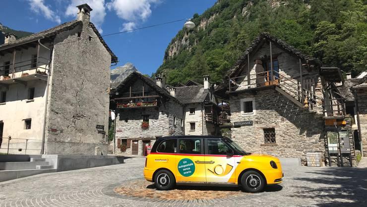 Der Test startet in einem der hintersten Winkel des Kantons Tessin: Im Verzascatal kann am Wochenende das London-Taxi per App gerufen werden.