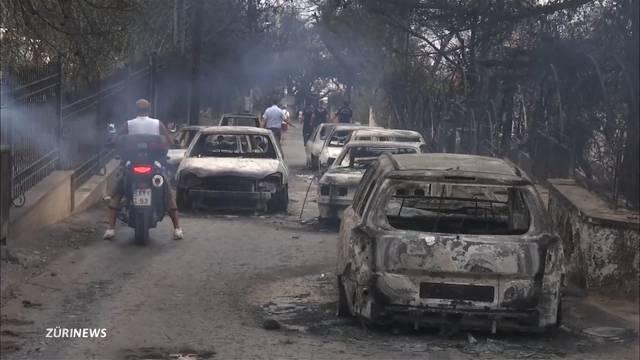 Mindestens 60 Tote bei Waldbränden um Athen
