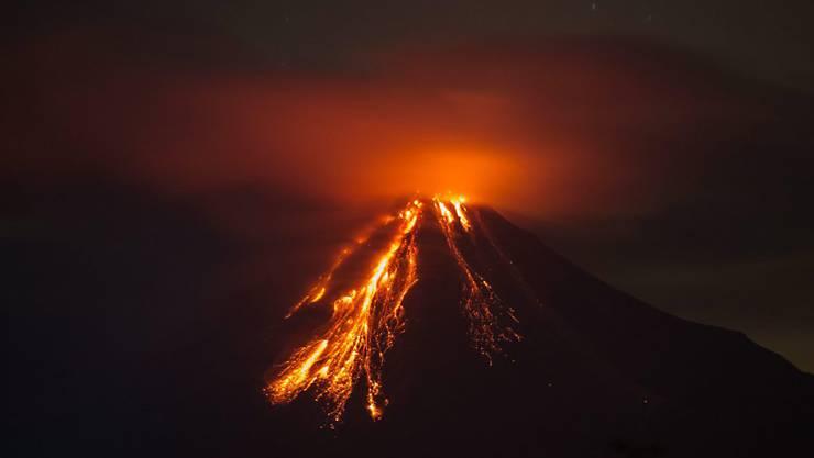 Blick auf den Vulkan Colima im Westen Mexikos: Die Behörden warnen vor Schlammlawinen wegen des Vulkanausbruchs.