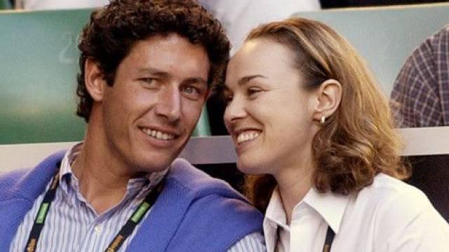 Martina Hingis mit ihrem Noch-Ehemann Thibault Hutin.