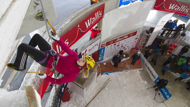 Petra Klingler am Weltcup in Saas-Fe