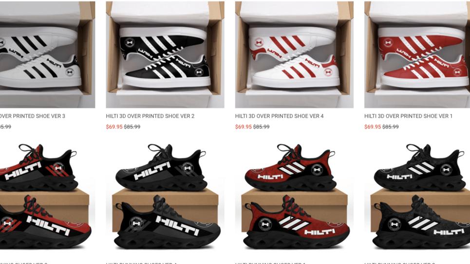Diese Hilti-Schuhe bot ein Online-Shop aus Kalifornien an – ohne Absprache mit Hilti.