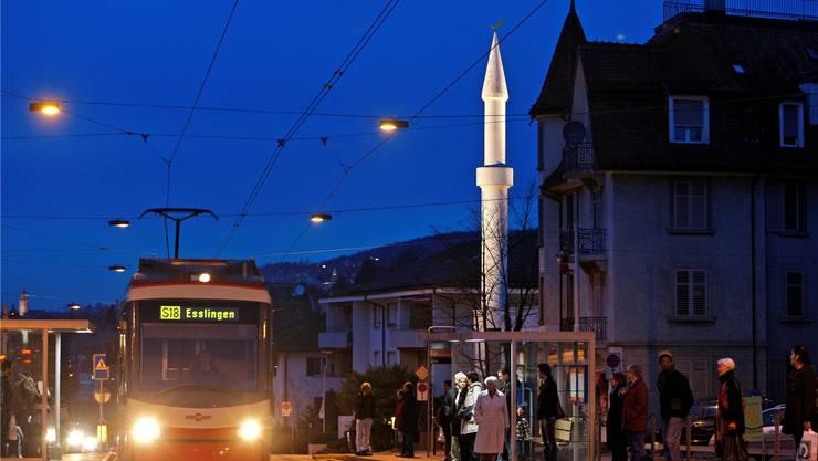 Die Türe der Mahmood-Moschee beim Zürcher Balgrist ist seit kurzem Verschlossen. Sie ist die älteste Moschee der Schweiz.
