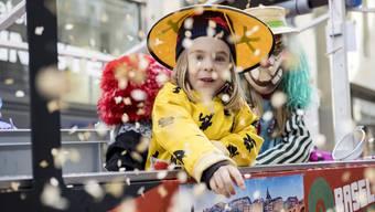 Basler Fasnacht 2019: Kinderfasnacht in der Basler Innenstadt zwischen Marktplatz, Freie Strasse und Barfüsserplatz