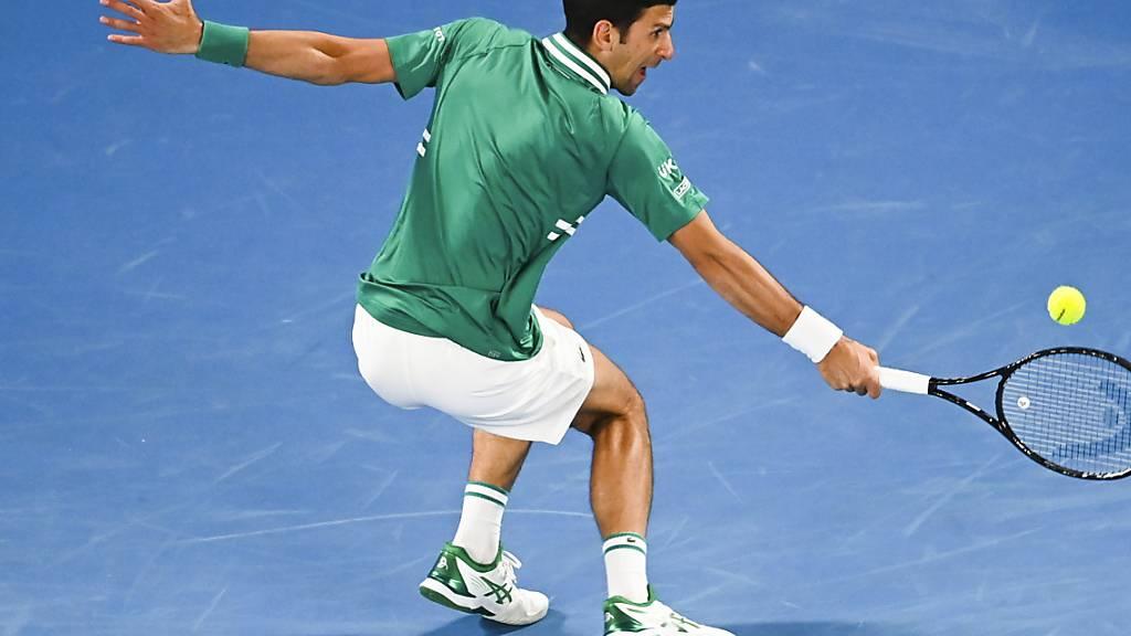 Rekordsieger Novak Djokovic überzeugte bei seinem ersten Auftritt am Australian Open in diesem Jahr